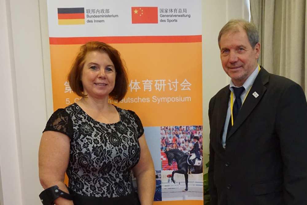 Hier mit Dr. Karl Quade, BMI und Chef de Mission bei vielen gemeinsam erlebten Paralympics!